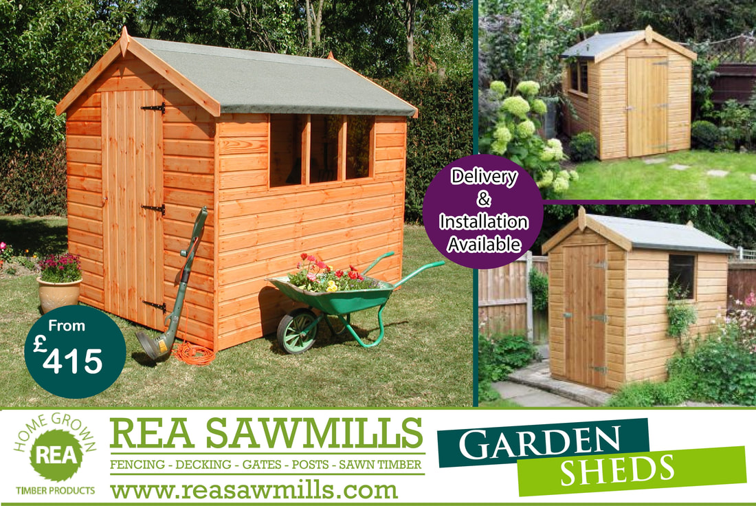 garden sheds rea sawmills. Black Bedroom Furniture Sets. Home Design Ideas